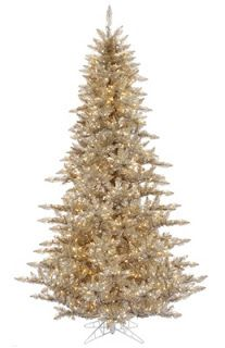 Champagne or gold christmas tree.