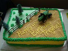 John Deer Tractor Cake by IMAKECAKES, via Flickr