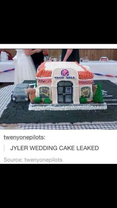 I can tell if that's their actual cake or not omg