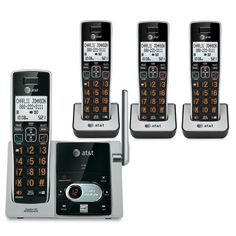 ATT-CL82413 4 Handset Cordless Answering System with Caller ID/Call Waiting #ATT