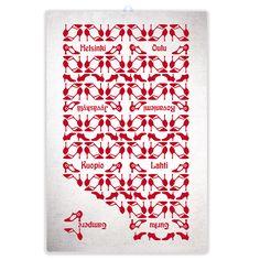 CityChic -keittiöpyyhe // CityChic -tea towel. Design by Pisama Design
