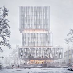 WeXo by Henning Larsen in Växjö, Sweden Image: Sonny Holmberg Office Building Architecture, Architecture Magazines, Building Facade, Modern Architecture House, Facade Architecture, Building Design, Architecture Diagrams, Architecture Portfolio, Landscape Architecture