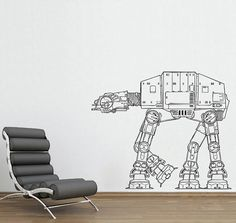 Star Wars Walker - vinyl wall sticker - damn it, I'm supposed to be looking for push walkers for kids. haha.