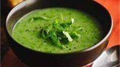 Potatoes, shallots and wild rocket leaves combine to create this warming winter soup. Herb Recipes, Potato Recipes, Soup Recipes, Vegetarian Recipes, A Food, Good Food, Food And Drink, Rocket Recipes, Sainsburys Recipes