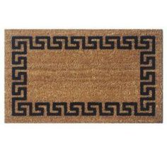 Perfect Home, Greek Key Coir and Vinyl 18 in. x 30 in. Door Mat, 21824 at The Home Depot - Mobile