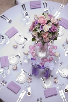 Photographer: Miller + Miller Photography; Wedding reception centerpiece idea