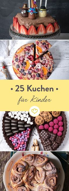Kuchen für Kinder, die kleine Naschkatzen 25 x glücklich machen Juicy brownies here, tiny little ring cake there and a magical magic cake in between - the cake craving for the little ones is spa Cake & Co, Eat Cake, Cupcake Recipes, Cookie Recipes, Brownie Recipes, First Birthday Cakes, How Sweet Eats, Cakes And More, Cake Cookies