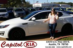 https://flic.kr/p/EPYYtg | Happy Anniversary to Dianna on your #Kia #Optima from Amber Schneider at Capitol Kia! | deliverymaxx.com/DealerReviews.aspx?DealerCode=RXQC