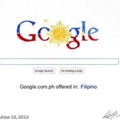 Googleやるな〜 #independenceday #philippines #google #フィリピン #独立記念日