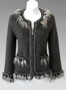 CHANEL 2010 Fur & Alpaca Knit Jacket