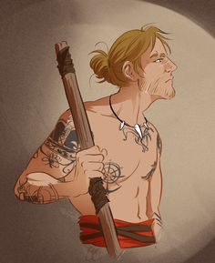 sannam on Tumblr didn't waste any time creating some fanart of shirtless Edward from the recent AC4 trailer! :D