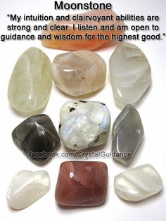Moonstone is the perfect crystal to work with for enhancing your intuition, clairvoyance, and other psychic abilities.