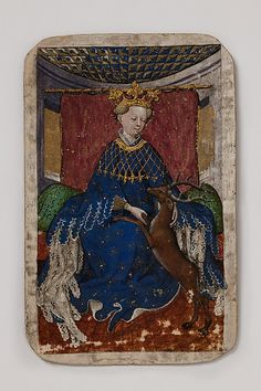 Queen of Stags, from The Stuttgart Playing Cards