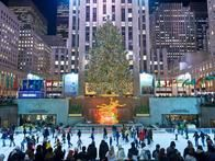 Perhaps one of the most famous Christmas trees of all, Rockefeller Center in New York City boasts a glowing, 80-foot  Norway spruce . Each year, the Rockefeller Center hosts a lighting ceremony shortly after Thanksgiving.
