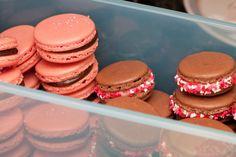 Macarons klare for kjøleskapet