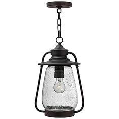 "Hinkley Calistoga 16 1/4"" High Bronze Outdoor Hanging Light"