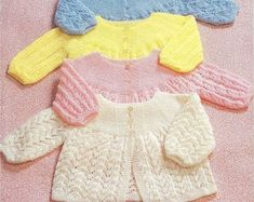 PDF Baby Jacket Knitting Pattern Vintage Retro Baby Jacket | Etsy Baby Mittens Knitting Pattern, Knit Cardigan Pattern, Knitted Baby Cardigan, Jacket Pattern, Retro Baby, Vintage Knitting, Coat Patterns, Baby Sweaters, Retro Outfits