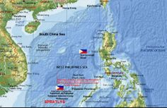 spratlys island map and share photo   China rejects to settle Scarborough Standoff in International Court ...