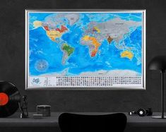 This item is unavailable Large World Map Poster, Framed World Map, World Map Canvas, World Map Wall Art, Map Art, World Map With Pins, Push Pin World Map, Custom Map, Travel Maps