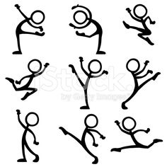 Stickfigure Dance Ballet royalty-free stock vector art