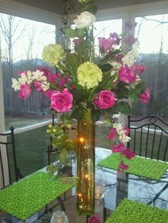 pretending to be a florist...:) - Continued!