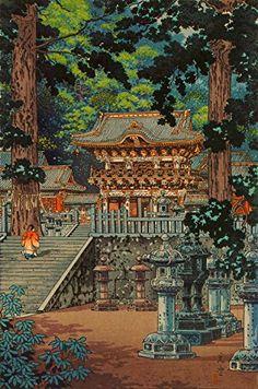"Japanese Art Print ""The Gate Yomei, the Nikko Shrine"" by Tsuchiya Koitsu. Shin Hanga and Art Reproductions http://www.amazon.com/dp/B00VDFEYHG/ref=cm_sw_r_pi_dp_abWvwb11NMHG1"