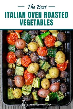 This is the best Italian Oven Roasted Vegetable recipe! Perfect for a side dish or for a light weeknight dinner idea. Veggie Recipes, Vegetarian Recipes, Cooking Recipes, Healthy Recipes, Roasted Vegetable Recipes, Vegetarian Protein, Vegetarian Barbecue, Veggie Food, Recipes Dinner