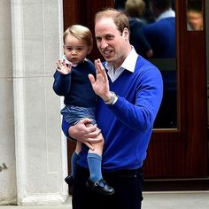 George and Daddy going to see the new princess!