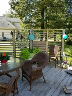 Great idea! Four Section Louvered Privacy Wall using FLEXfence