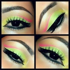 Neon eyes for neon hair #hothuez #eyes