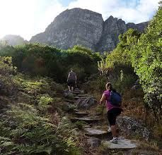 Hiking up Table Mountain, Cape Town