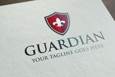 Guardian Logo Template Templates **Features**- 300 dpi cmyk- EPS and AI- fully editable- fully resizable- 3 versions - sh by It's a Small World