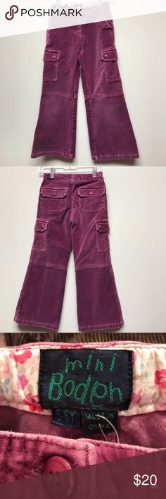 Mini boden 5/6 velvet cargo pants Mini boden 5/6 velvet cargo pants in very nice gently used clean condition. Adjustable waist, no trades. Consigned to my boutiques Mini Boden Bottoms Casual