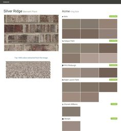 Click the gray Visit button to see the matching paint names. Acme Brick, Brick Masonry, Farm House Colors, Exterior House Colors, Bristol, Pittsburgh, Brick Companies, Ralph Lauren Paint, Paint Matching