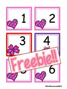 FREEBIE!! February Calendar Cards {AABC Pattern}   dreambigkinders.blogspot.com