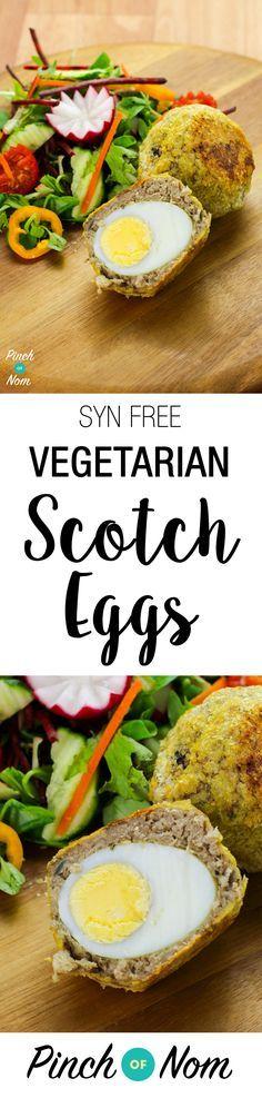 Syn Free Vegetarian Scotch Eggs | Slimming World - http://pinchofnom.com/recipes/syn-free-vegetarian-scotch-eggs/