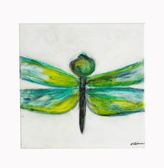 Dragonfly Original Painting on Canvas