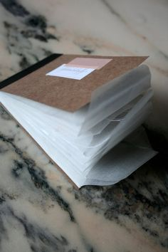 handbound glassine envelope book from etsy shop flylikeabutterfly $12.75