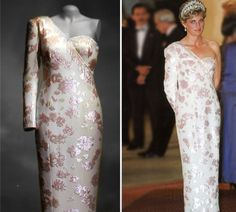 #Princess #Diana wore this Catherine Walker ivory satin dress on an official visit to Brazil in 1991.