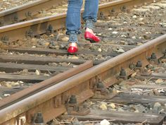 I can go everywhere with my red shoes...