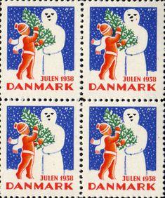 Danish Christmas seal 1938