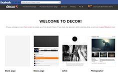 Decor Tab Creator, servicio web gratuito para diseñar páginas de fans en Facebook