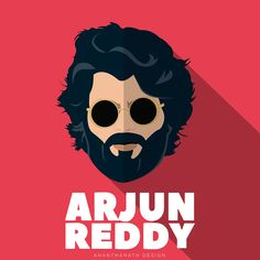 Arjun reddy - Flat Design on Behance Graffiti Wallpaper Iphone, Cartoon Wallpaper, Film Images, Actors Images, Actor Picture, Actor Photo, Beard Art, Bollywood Posters, Vijay Actor