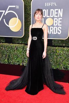 Dakota Johnson Gucci Dress at the Golden Globes 2018 Gala Dresses, Red Carpet Dresses, Dakota Johnson Stil, Gucci Dress, Strapless Dress Formal, Formal Dresses, Glamorous Dresses, Celebrity Red Carpet, Celebrity Outfits