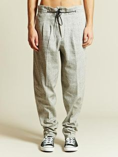 Toga Men's Pleated Drawstring Trousers