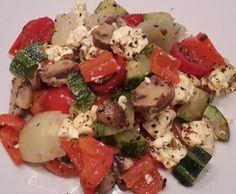 Rezept Mediteranes Gemüse mit Schafskäse von Ines Wepunkt - Rezept der Kategorie Hauptgerichte mit Gemüse