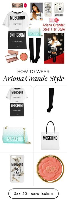 """Ariana Grande ~ Steal Her Style"" by crysty17 on Polyvore featuring Moschino, Lime Crime, Urban Decay, Milani and Marc Jacobs"