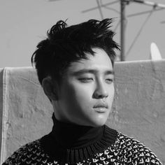 EXO's D.O Melts Hearts with Charismatic 'High Cut' Pictorial Kyungsoo, Baekyeol, Chanyeol, Most Beautiful Images, Beautiful Boys, Exo Lockscreen, Solo Pics, Exo Do, Do Kyung Soo