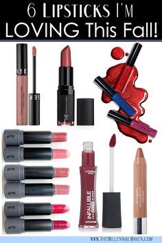 6 Lipsticks I'm LOVING This Fall (Best Fall Lipsticks)