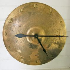 Cymbal Clock Unique Wall Clock Gifts for Drummers Large Clock Drummer Gifts